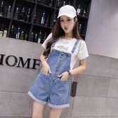 【好康618】2018夏新款韓版牛仔工裝褲連身闊腿背帶褲