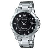 【CASIO】 經典商務型男數字指針腕錶-數字黑面(MTP-V004D-1B)