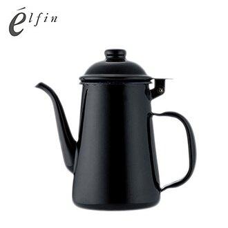 日本高桑elfin 琺瑯手沖壺-黑