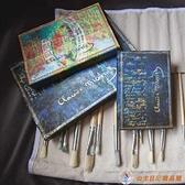 大本 裝飾原圖系列莫奈福爾摩斯手帳筆記本精美計劃本學生禮物【公主日記】