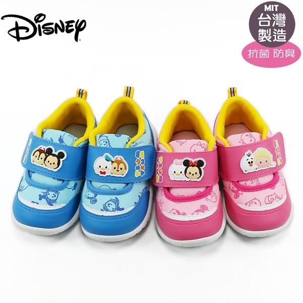 正版迪士尼Disney米奇tsum tsum抗菌兒童布鞋.休閒鞋.童鞋.藍15-18號~EMMA商城