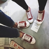 帆布鞋-情侶鞋-繫帶學院風經典百搭平底男女休閒鞋5色73no10【巴黎精品】