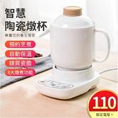 台灣24h現貨 110V養生壺 加厚陶瓷 養生杯 快煮壺 電熱杯墊 小燉盅 燉鍋