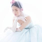 新娘婚紗簡約手套簡約薄紗薄透夏季