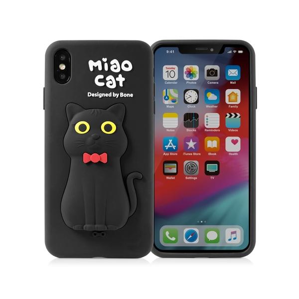 【BONE】IPhone XS MAX 公仔保護套-喵喵貓