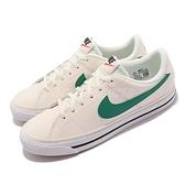 Nike 休閒鞋 Court Legacy GS 白 綠 小白鞋 復古 女鞋 大童鞋 【ACS】 DA5380-108