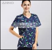 手術服洗手衣女款滌棉印花手術衣醫生服護士服手術室隔離衣LG-882222