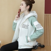快速出貨 學院風羊羔毛絨加厚保暖外套女秋冬 學生韓版寬鬆加絨刷毛夾克