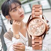 MK Michael Kors Chronograph 三眼羅馬古典玫瑰金腕錶 MK5799 熱賣中!