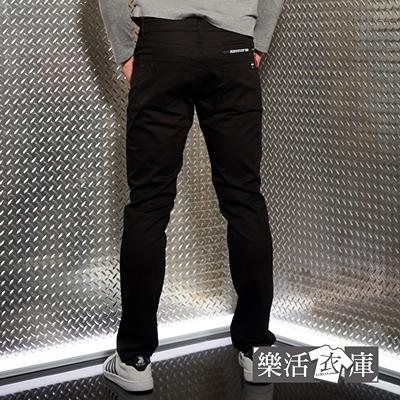【8943】美式風潮彈力伸縮休閒長褲(黑色)● 樂活衣庫