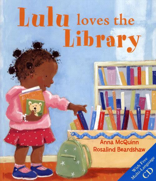 【麥克書店】LULU LOVES THE LIBRARY  英文繪本附CD《語言啟蒙學習》