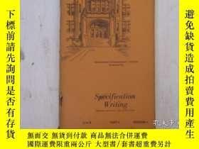 二手書博民逛書店民國:Specification罕見Writing【USA】 房屋工程建造系列Y23766