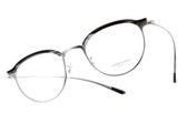 OLIVER PEOPLES 光學眼鏡 GOLDING 5077 (銀黑) 限定眉型復古圓框 # 金橘眼鏡