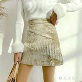中大尺碼燈芯絨裙 秋冬新款ins超火chic高腰顯瘦短裙冬裙裙子女潮 nm15918【歐巴生活館】
