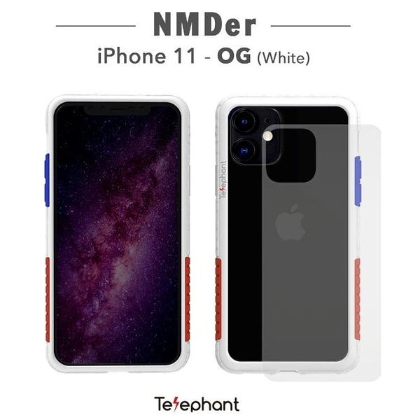 太樂芬Telephant iPhone 11/6.1吋 NMDER抗汙防摔手機殼 簡約款邊框含透明背板 金屬支架保護殼