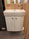 【麗室衛浴】客戶自己國外帶回 小空間專用 日本TOTO LW 248原裝 洗手台+發泡板浴櫃