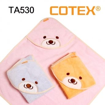 COTEX微笑貝爾熊浴巾