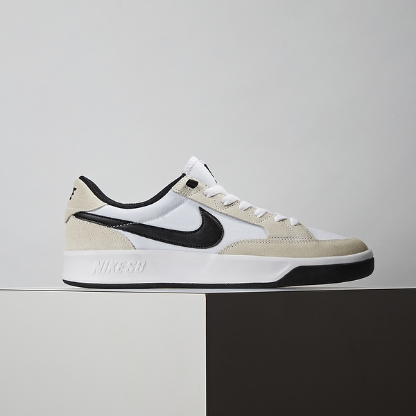 Nike SB Adversary PRM 男鞋 白黑 麂皮 簡約 復古 運動 休閒鞋 CW7456-100