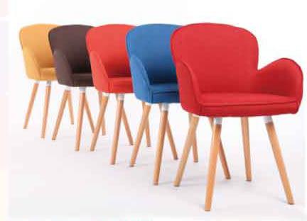 【南洋風休閒傢俱】高登椅 高/低扶手 木頭腳 洽談椅 餐椅 休閒椅 (555-1)