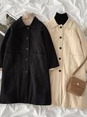 毛呢大衣 毛呢外套冬季新款女裝韓版氣質百搭純色長款夾棉呢子大衣潮 優拓