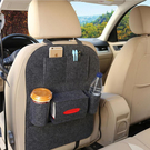 車用椅後毛氈置物袋 汽車用背袋 面紙收納...