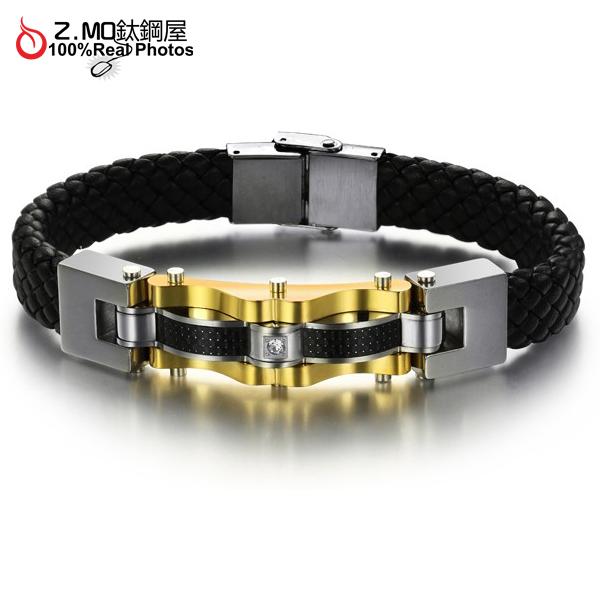 [Z-MO鈦鋼屋]優質PU皮手環/簡約單色設計/經典配色/流行皮手鍊款式推薦單件價【CKLS809】