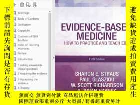 二手書博民逛書店Evidence-Based罕見Medicine: How to Practice and Teach EBM 5