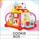 匯樂806 快樂 小天地 玩具 兒童 親子 嬰幼兒 早教 益智 多功能 音樂 六面聲光 15合1 *餅乾盒子*