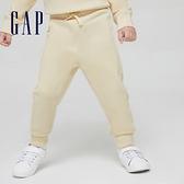 Gap男幼童 基本款鬆緊休閒休閒褲 866610-米黃色