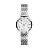 【Emporio Armani】美式經典紋路格狀時尚鋼帶腕錶-亮眼銀/AR11112/台灣總代理公司貨享兩年保固