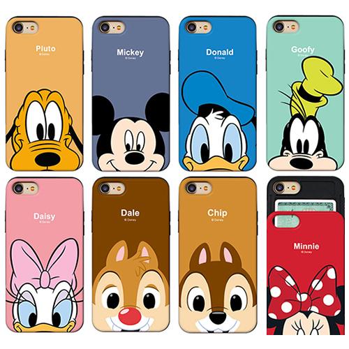 迪士尼 手機殼│推蓋卡夾│iPhone 7 8 Plus SE X XS MAX XR 11 PRO 12 MINI│z7964
