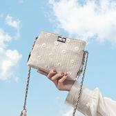 夏天的小包包2021新款潮單肩斜背包超火包鏈條女包百搭Ins小方包