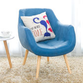 單人沙發北歐複古簡約皮質小戶型椅咖啡廳臥室舒服休閒實木電腦椅xw