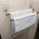 雙桿毛巾架(60cm) 無痕掛勾~只可宅配 不銹鋼 收納 超黏 凹凸牆面可貼 台灣製造 熊好貼