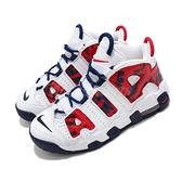 Nike 籃球鞋 Air More Uptempo PS 白 藍 紅 童鞋 中童鞋 氣墊 大Air 【ACS】 CZ7886-100