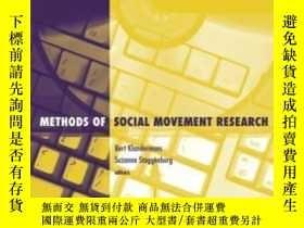 二手書博民逛書店Methods罕見Of Social Movement-社會運動方法Y436638 Bert Klanderm