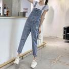 小雛菊牛仔背帶褲女夏韓版寬鬆新款時尚流行顯瘦網紅夏季薄款 快速出貨