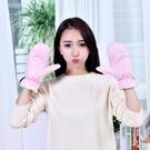 冬季加絨戶外保暖防風手套女冬天學生可愛毛絨加厚防水手套【七月特惠】
