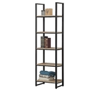 【森可家居】哈佛2.3尺梧桐鐵架開放書櫃(單只) 7JF366-2