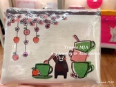 *Yvonne MJA* 日本帶回 日本製 拉鍊式 熊本熊 精緻 零錢包