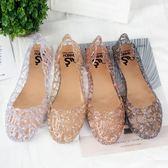 洞洞鞋 夏季女鞋沙灘平底鳥巢洞洞鞋塑料水晶果凍鞋鏤空網狀涼鞋媽媽單鞋 限時搶購
