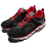 【六折特賣】Fila 慢跑鞋 J972Q 黑 紅 白底 輕量透氣 運動鞋 男鞋 【PUMP306】 1J972Q402