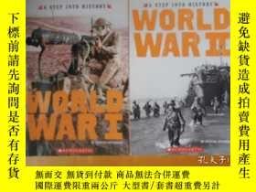 二手書博民逛書店A罕見STEP INTO HISTORY;WORLD WAR I II 邁進歷史的一步【世界大戰 1、2 】書名以