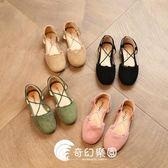 韓版女童半涼鞋女寶寶公主鞋兒童皮鞋小女孩鞋-奇幻樂園