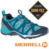 【MERRELL 美國】SIREN HEX Q2 女 GORE-TEX 防水多功能健行鞋『水藍』15894