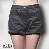 【BTIS】蕾絲拼接短褲 / 鐵灰色