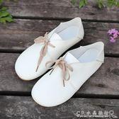 豆豆鞋女春季新款女鞋百搭韓版學生單鞋森女系鞋子平底小白鞋水晶鞋坊