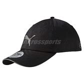 Puma 帽子 Sapca Running Cap 黑 銀 反光 老帽 魔鬼氈 慢跑遮陽帽 【ACS】 05291101