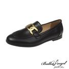 樂福鞋 韓風金屬釦鐶樂福鞋(黑)*BalletAngel【18-6612bk】【現+預】