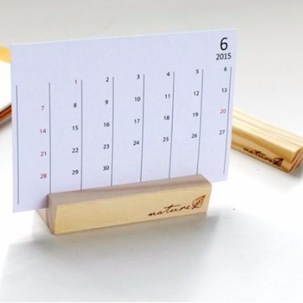 【BlueCat】復刻NATURE小樹葉方塊長條木質便簽夾名片夾 照片夾 留言夾 (中)